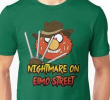 Nightmare on elmo street. Horror. Unisex T-Shirt