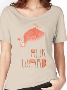 Awkward Orange Auk  Women's Relaxed Fit T-Shirt