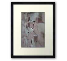 Field Of Texture Framed Print