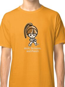 Martial Arts/Karate Girl - Front punch (gray font) Classic T-Shirt