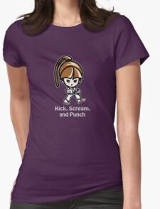 Martial Arts/Karate Girl - Front punch (gray font) T-Shirt