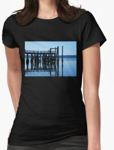 Pier Reflections Womens Fitted T-Shirt