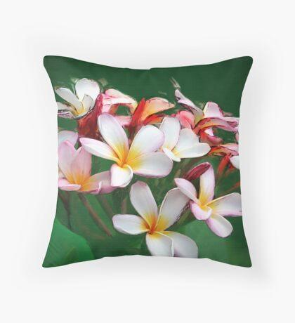 Frangipani Art Throw Pillow