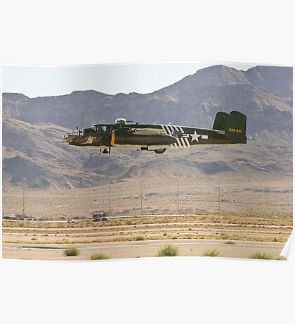 B-25J Mitchell Bomber Takes Off Poster