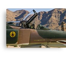 The pilot of the F-4 Phantom waves to the crowd. Canvas Print