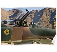 The pilot of the F-4 Phantom waves to the crowd. Poster
