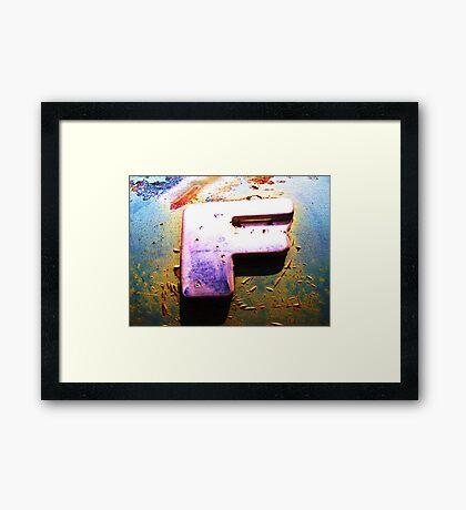 F Framed Print