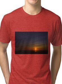 Ocean Shores Sunset Tri-blend T-Shirt