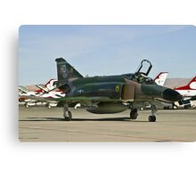 The F-4 Phantom taxiing at Nellis AFB Canvas Print