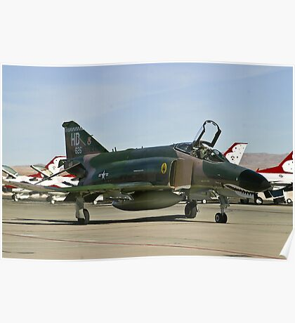 The F-4 Phantom taxiing at Nellis AFB Poster
