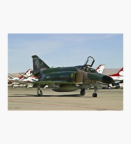 The F-4 Phantom taxiing at Nellis AFB Photographic Print