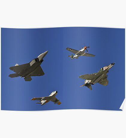 Air Combat Command Heritage Flight. Poster