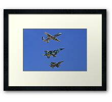 US Air Force Warfare Center Flyby Framed Print
