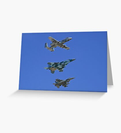 US Air Force Warfare Center Flyby Greeting Card