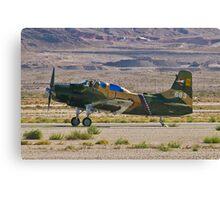 An A-1 Skyraider landing. Canvas Print