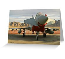 Nose Shot of a British Typhoon Greeting Card