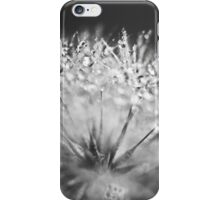 Dewdrop on Dandelion Black and White  iPhone Case/Skin