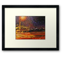 Night's traffic Framed Print