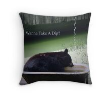 Wanna Take A Dip? Throw Pillow
