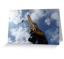 Looking up a crane Greeting Card