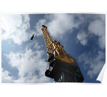 Looking up a crane Poster