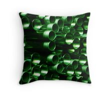 Green Pipe ~ pillow collection Throw Pillow