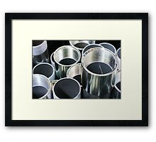 Shiny Pipes ~ pillow collection Framed Print