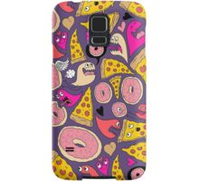 Pizza Donut Monsters Samsung Galaxy Case/Skin