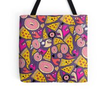Pizza Donut Monsters Tote Bag