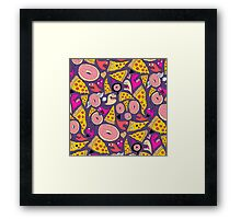 Pizza Donut Monsters Framed Print