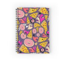 Pizza Donut Monsters Spiral Notebook