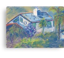 California Cottage (pastel) Canvas Print