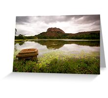 Cloudy evenings over rural Bangalore Greeting Card