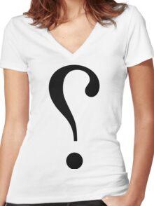 sNARK mARK {ironicon} Women's Fitted V-Neck T-Shirt