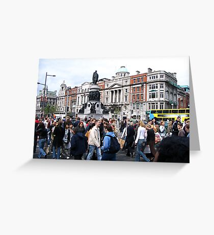 Traffic at O'Connel Street Greeting Card