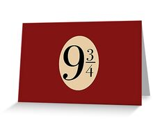 Platform 9 3/4 Greeting Card