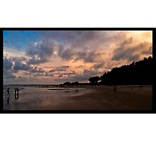 seascapes - sunset at tarkarli beach, konkan, india Photographic Print