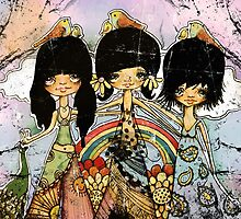 hippy chicks by © Karin (Cassidy) Taylor