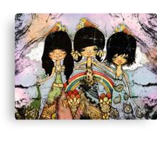 hippy chicks Canvas Print