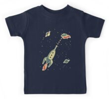 retro spaceship Kids Clothes