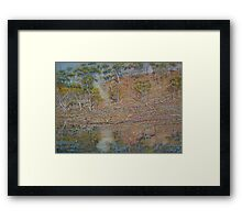 Coblinine river reflections - Dumbleyung Framed Print