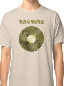 Groovin - Vinyl LP Record & Text - Metallic - Gold Classic T-Shirt