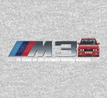 BMW E30 M3 25th Anniversary (Brilliant Red) White Text 2 by Sharknose