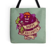 Monster and old ribbon for Halloween Tote Bag