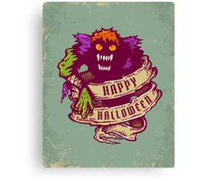 Monster and old ribbon for Halloween Canvas Print