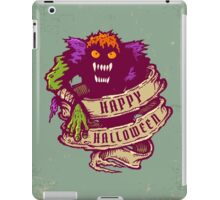 Monster and old ribbon for Halloween iPad Case/Skin
