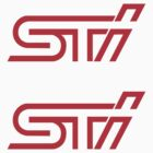 Red STI Logo Decals (2) by avdesigns