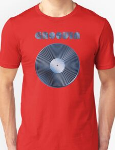 Groovin - Vinyl LP Record & Text - Metallic - Blue Unisex T-Shirt