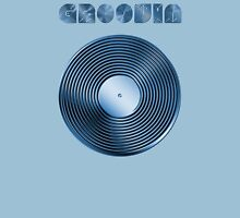 Groovin - Vinyl LP Record & Text - Metallic - Blue Unisex T-Shirt