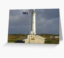 Dark skies over Cape Leeuwin  Greeting Card